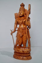 Load image into Gallery viewer, Wooden Lord Shri Rama Statue of Ayodhya Temple fine Carving - Malji Arts