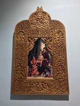 Load image into Gallery viewer, Sandalwood Rare Hand Carved Frame wall hanging artwork - Malji Arts