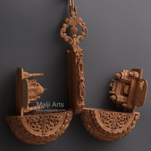 Load image into Gallery viewer, Sandalwood Carved Pocket Watch Showpiece