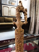 Load image into Gallery viewer, Sandalwood Hand Carved Decorative Indian Small Sword - Malji Arts
