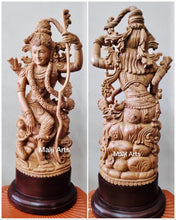 Load image into Gallery viewer, Sandalwood Lord Rama with Hanuman Quality Carving Statue - Malji Arts