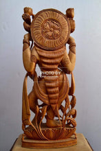 Load image into Gallery viewer, Wooden Beautifully Hand Carved Laxmi Ji Standing Statue - Malji Arts