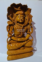 Load image into Gallery viewer, Wooden Fine Hand Carved Shiva Meditation Sitting Posture - Malji Arts
