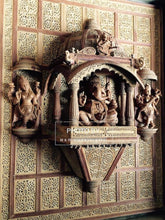 Load image into Gallery viewer, Sandalwood Carved GANESH DARBAR JHAROKHA, Wall Hanging Artwork - Malji Arts