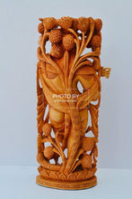 Load image into Gallery viewer, Wooden fine carved baby krishna statue - Malji Arts