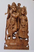 Load image into Gallery viewer, Vintage Sandalwood Beautifully Carved Radha Krishna Statue - Malji Arts