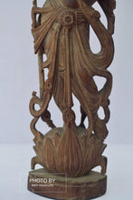 Load image into Gallery viewer, Vintage Sandalwood Carved Rare Lord Krishna Statue - Malji Arts