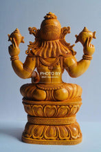 Load image into Gallery viewer, Wooden Fine Carved Lord Narasimha Statue - Malji Arts