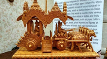 Load image into Gallery viewer, Wooden Fine Hand Carved Chariot or Arjuna Raath - Malji Arts