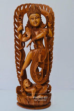 Load image into Gallery viewer, Sandalwood Beautifully Hand Carved Large Natraja Statue - Malji Arts