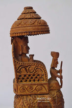Load image into Gallery viewer, Vintage Sandalwood Carved Royal Elephant Ambabari Statue - Malji Arts