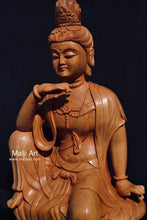Load image into Gallery viewer, Wooden hand carved collective buddha sitting - Malji Arts