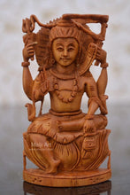 Load image into Gallery viewer, Sandalwood Carved Small Shiva Miniature Idol for gift - Malji Arts
