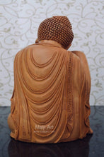 Load image into Gallery viewer, Fine Wood Carved Smiling Resting Buddha Statue - Malji Arts