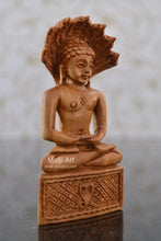 Load image into Gallery viewer, Sandalwood Beautifully Carved PARASNATH BHAGWAN - Malji Arts