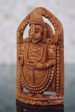 Load image into Gallery viewer, Sandalwood Beautifully Carved Small TIRUPATI BALAJI Statue - Malji Arts