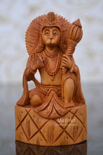 Load image into Gallery viewer, Sandalwood Carved Small Lord Hanumana Miniature Statue - Malji Arts