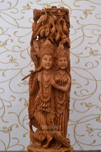 Load image into Gallery viewer, Sandalwood Fine Carved Radha Krishna Under Tree - Malji Arts