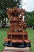 Load image into Gallery viewer, Sandalwood Fine Carved Royal Elephant Ambabari with Opening Base - Malji Arts
