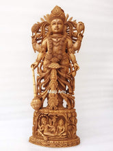 Load image into Gallery viewer, Wooden Fine High Quality Hand Carved Lord Vishnu Statue - Malji Arts