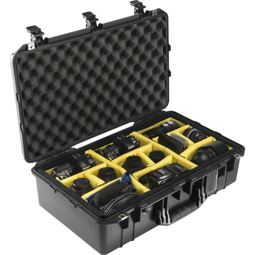 Pelican 1555AirWD Carry-On Case with Dividers - Black