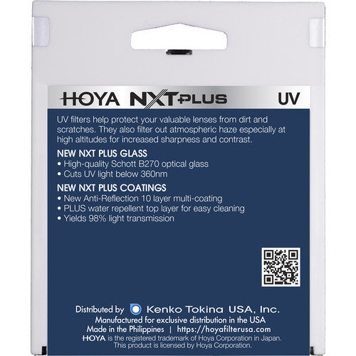 Hoya NXT Plus UV Filter - 72mm