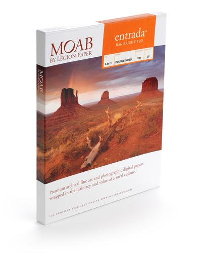 Moab Entrada Rag Bright 190 8.5x11 - 25 Sheets
