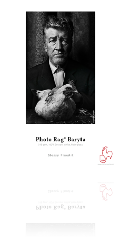"Hahnemuhle Photo Rag Baryta 8.5x11"" 25 Sheets Inkjet Paper"