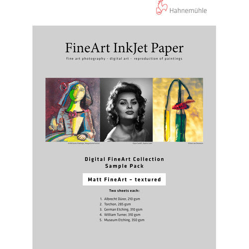 "Hahnemühle Matte Textured FineArt Inkjet Paper Sample Pack (13 x 19"", 10 Sheets)"