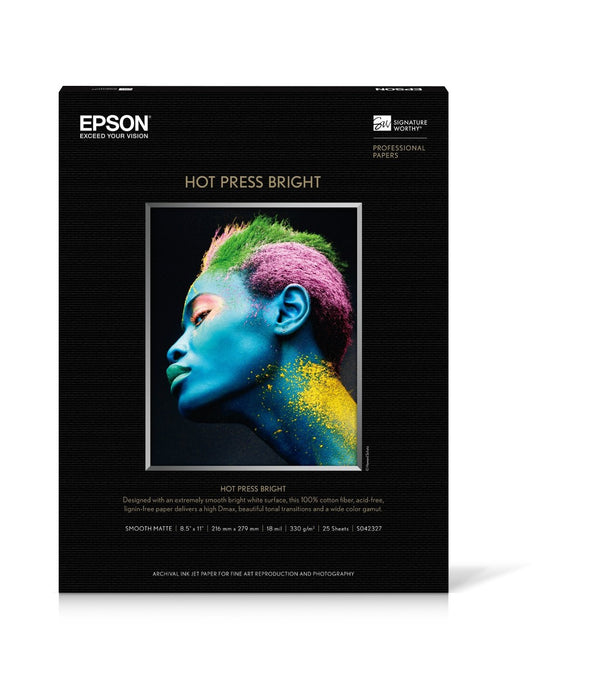 "Epson Hot Press Bright Matte 24""x50' Roll Paper"