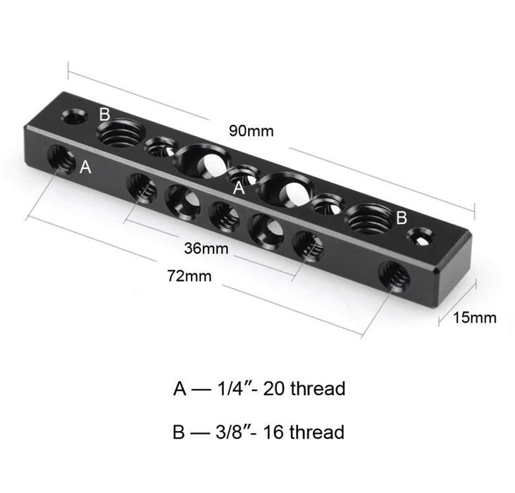 SmallRig Cheese Bar with 1/4 Inch and 3/8 Inch Screw Hole 1091