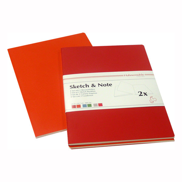Hahnemuhle Sketch & Note Cerise/Paprika A6 40p Book Set