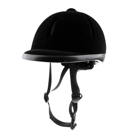 Horse Riding Helmet Velvet Equestrian Rider Safety Head Hat