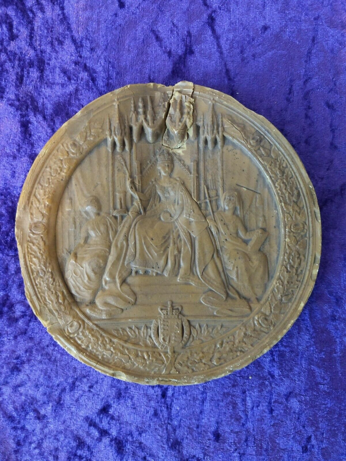 Replica Of Queen Victoria Wax Great Seal of Realm 1800s 6