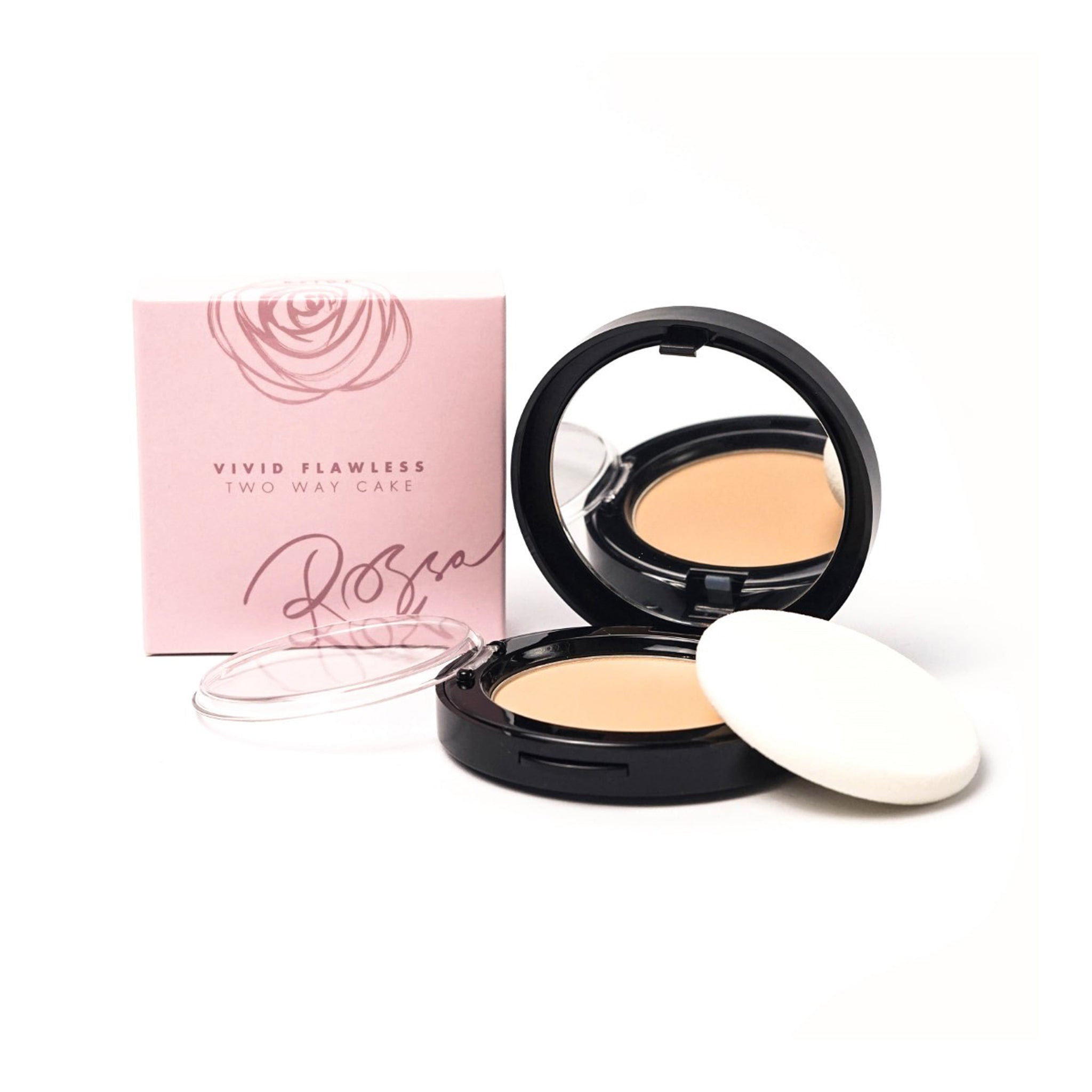 Rossa Beauty Vivid Flawless Two Way Cake - Beige