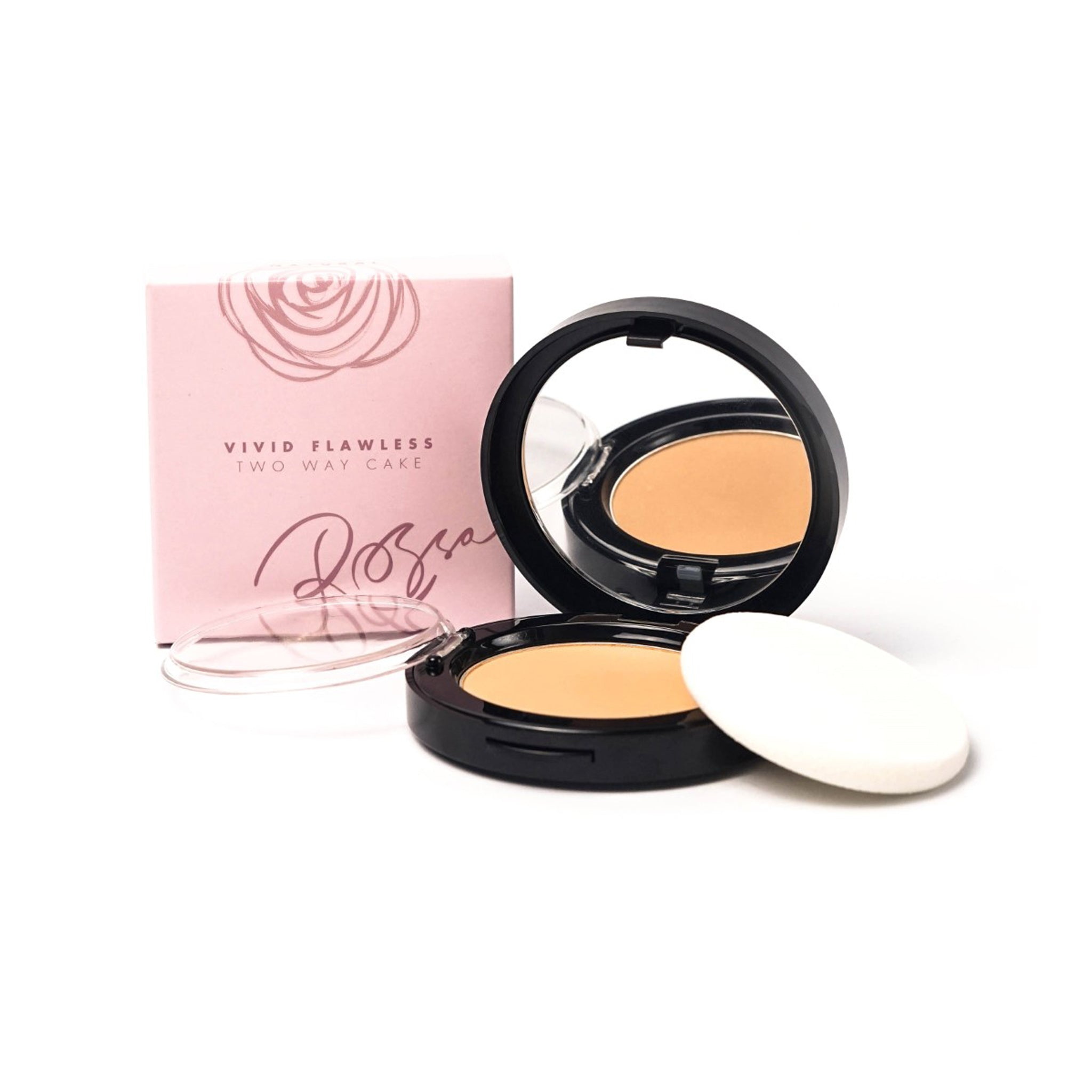Rossa Beauty Vivid Flawless Two Way Cake - Natural