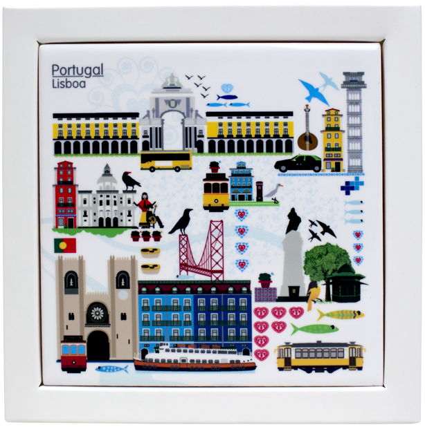 Lisboa Printed Tile coaster