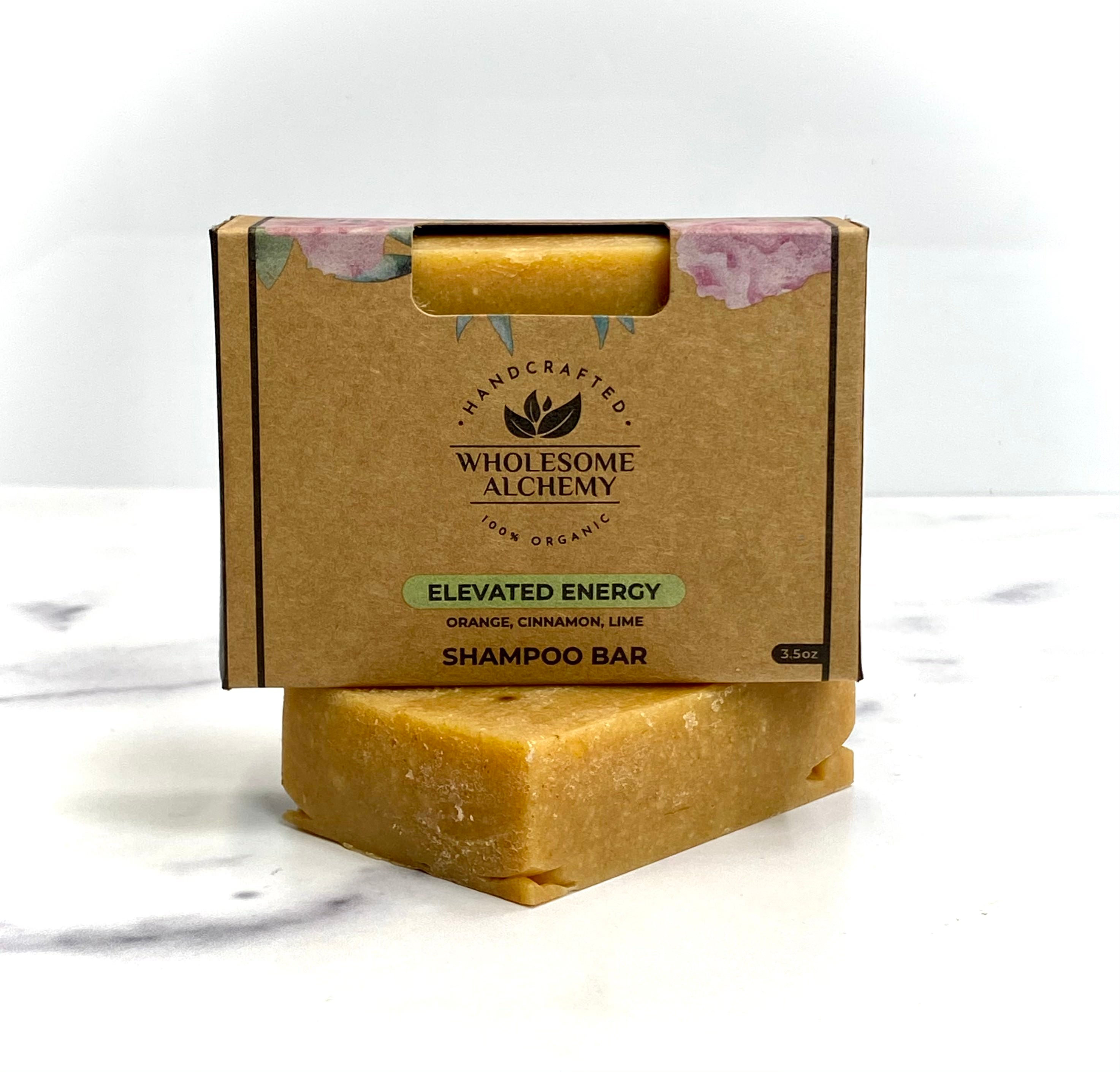 Vegan Organic Essential Oil Shampoo Bar (Elevated Energy)