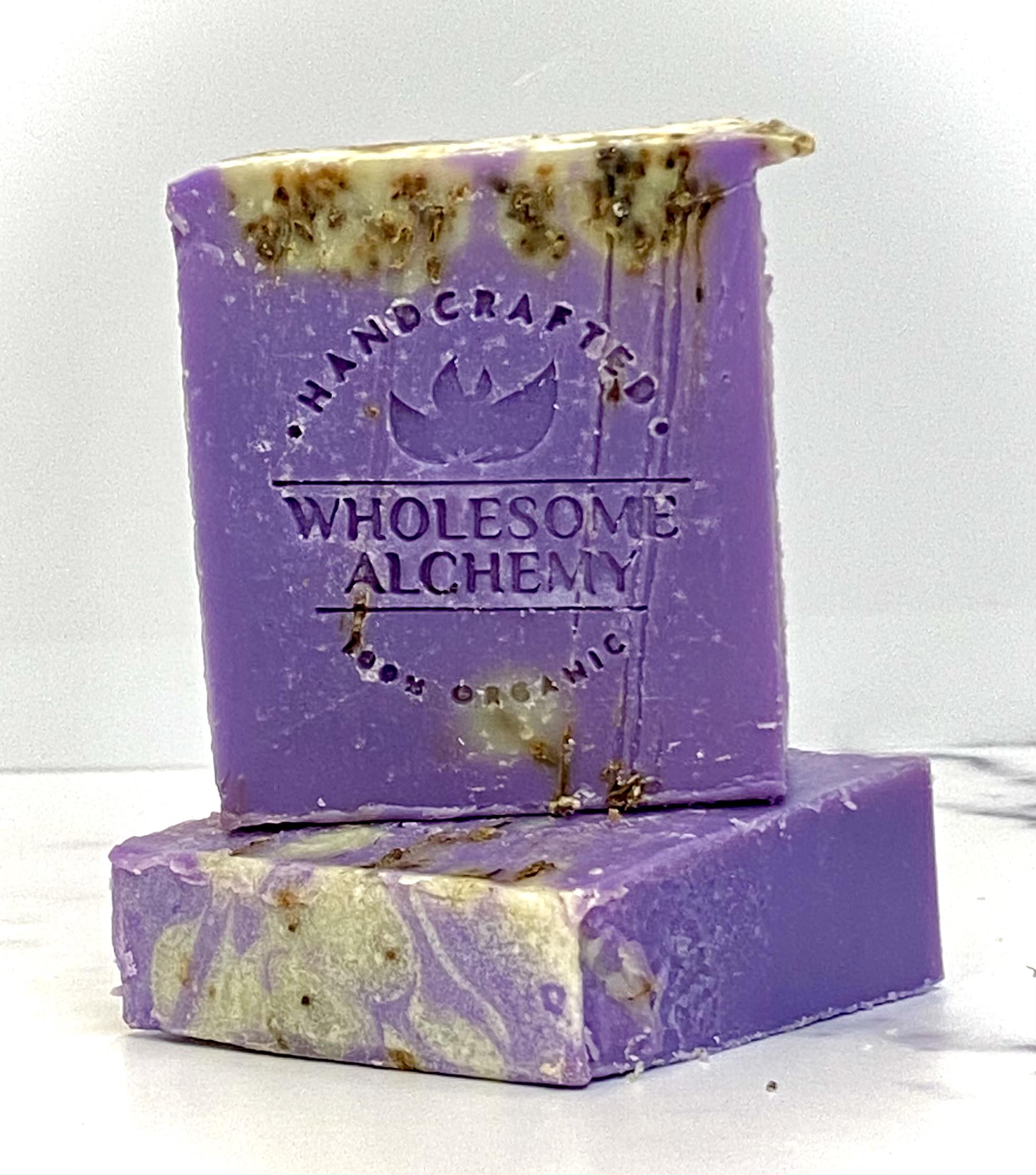 Organic Ayurveda Essential Oil Body Soap (Sacred Serenity: Frankincense and Lavender)