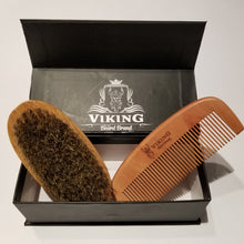 Load image into Gallery viewer, Viking Beard Brand Beard brush and comb set