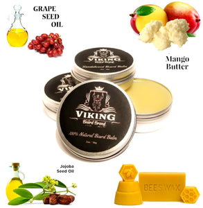 viking beard brand all natural beard balm for men