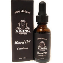 Load image into Gallery viewer, viking beard brand all natural sandalwood beard oil for men