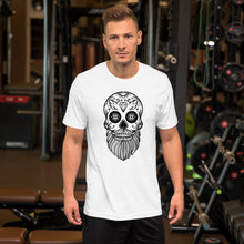 Load image into Gallery viewer, Short-Sleeve Men's Sugar Skull White T-Shirt