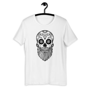 Short-Sleeve Men's Sugar Skull White T-Shirt