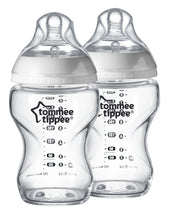 Load image into Gallery viewer, TOMMEE TIPPEE  2 Pack 250ml Glass Bottles