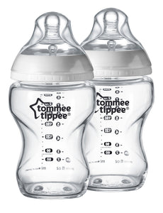 TOMMEE TIPPEE  2 Pack 250ml Glass Bottles