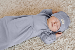 BABY CATERPILLAR - Merino nightgown (standard weight)