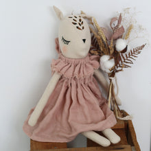 Load image into Gallery viewer, BURROW & BE Fleur le Fawn Doll - With Dusky Pink Dress