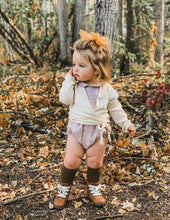 Load image into Gallery viewer, KARIBOU KIDS Picnic Knee-High Socks - Olive Leaf