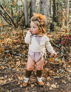 KARIBOU KIDS Picnic Knee-High Socks - Olive Leaf
